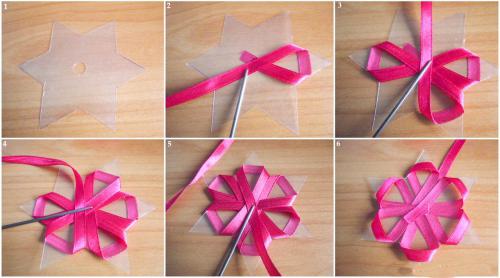 Бант для подарка из узкой ленты своими руками