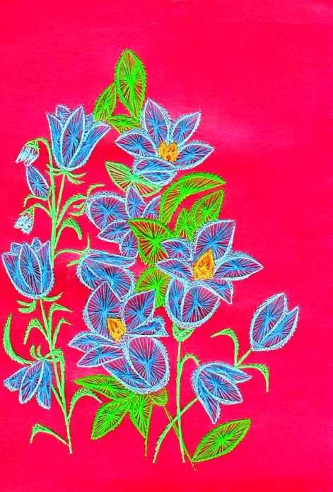 Цветы в технике изонить
