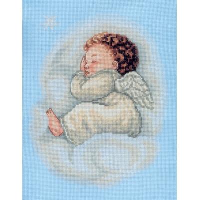 Ангелочек спящий на облаке