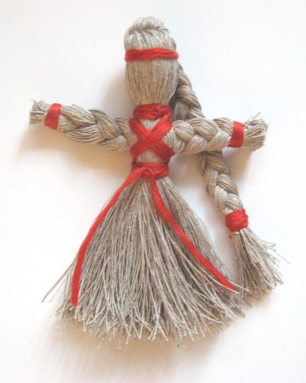 Кукла из ниток своими руками фото