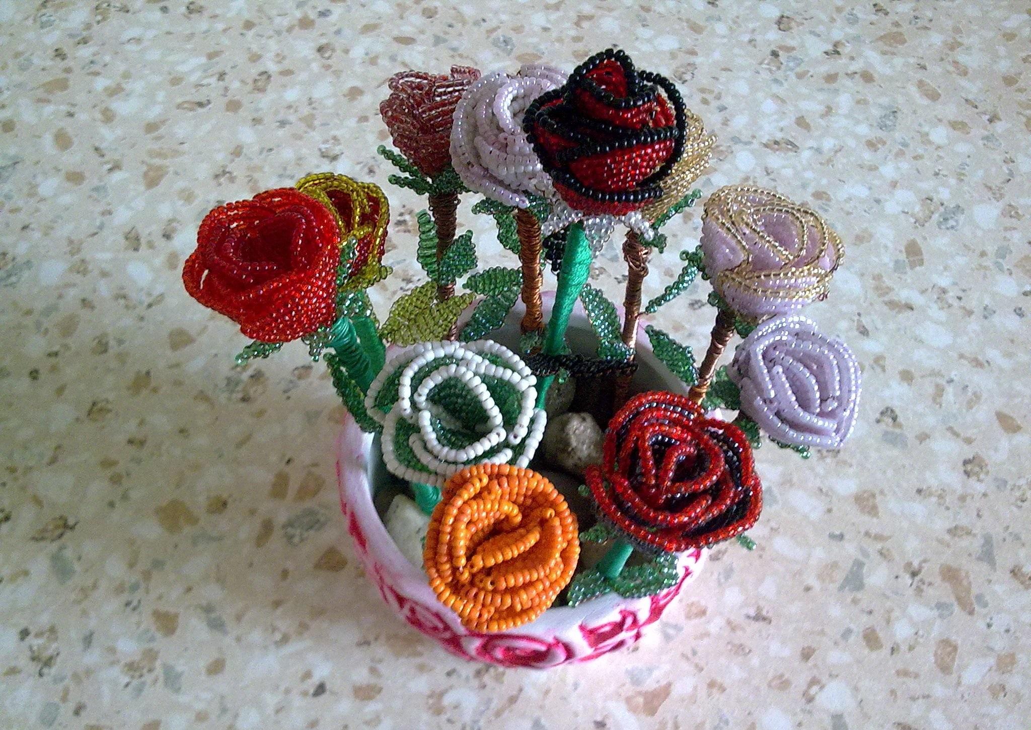 Бисероплетение мастер класс с пошаговым роза