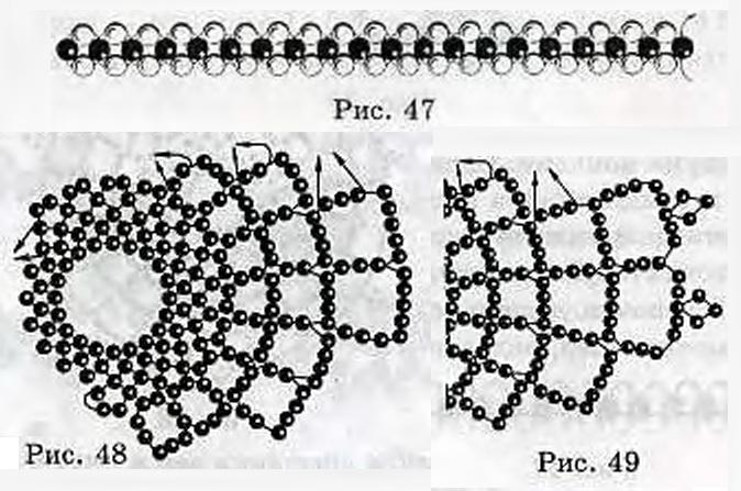 Схема снежинки. В плетении
