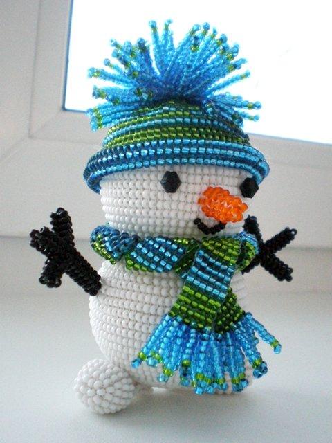 Объемный снеговик своими
