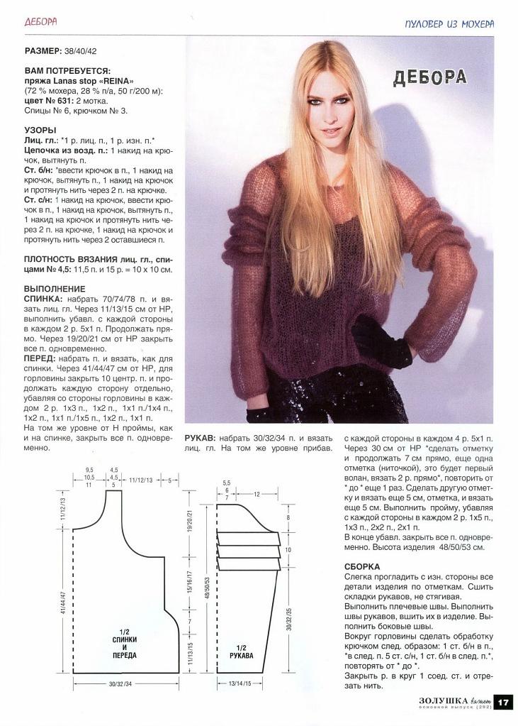 Вязание спицами для женщин мохер с описанием и