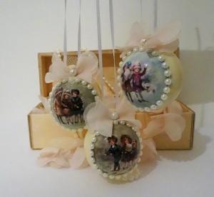 Декор елочных шариков