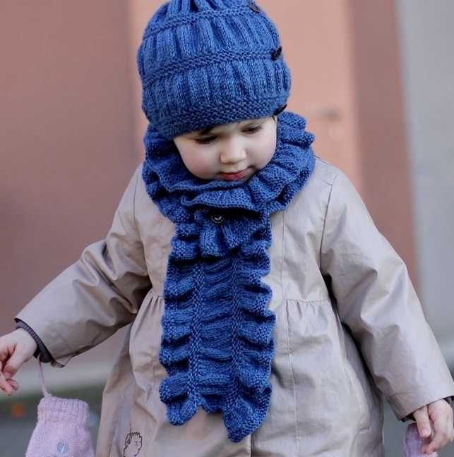 вязание детского шарфа спицами по схеме и фото видео мк