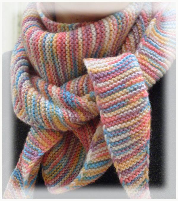 Вяжем детям шарф схема