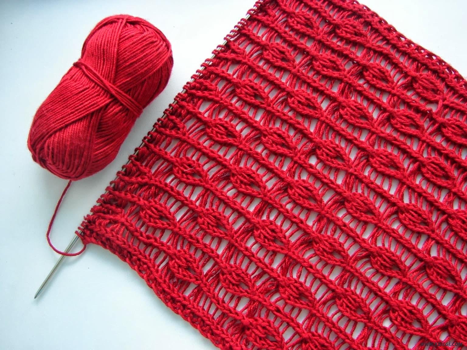 Схемы вязания двухсторонних шарфов 207