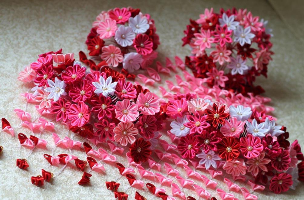 Канзаши своими руками для начинающих цветы фото 923