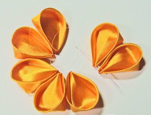 Все виды лепестков канзаши пошаговое фото 44