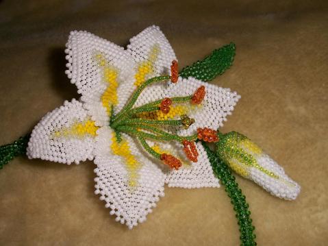 Бисероплетение лилии мастер класс пошаговое 95