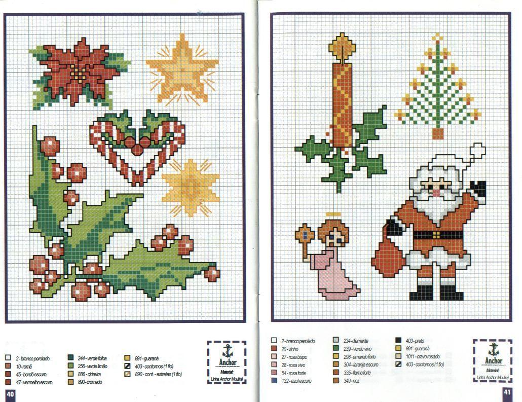 Схемы вышивок крестом новогодние мотивы