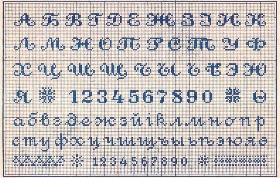 Вышивка цифр крестом бесплатные схемы
