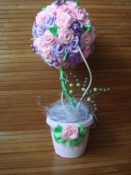 Топиарий атласных роз своими руками фото 876
