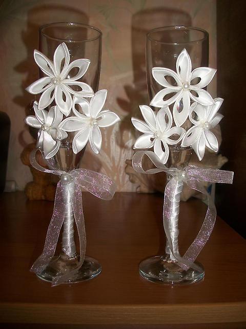 Свадебные украшения своими руками канзаши