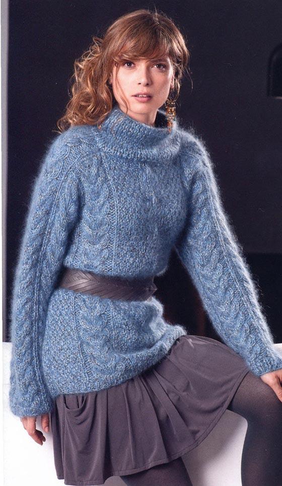 ажурное вязание из мохера схемы