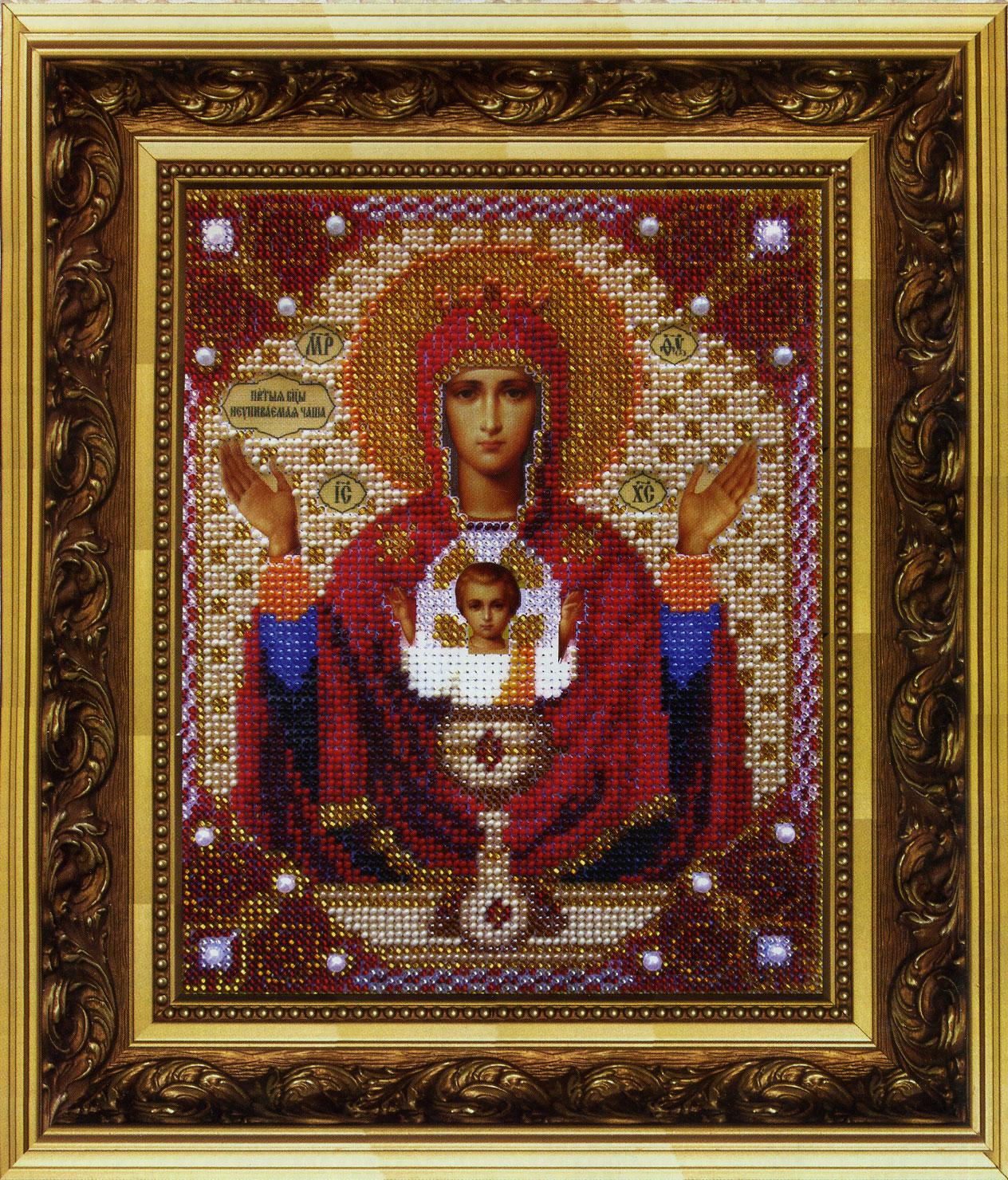 схема вышивки бисером иконы (святая пара)