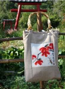 Вышивка на сумке своими руками