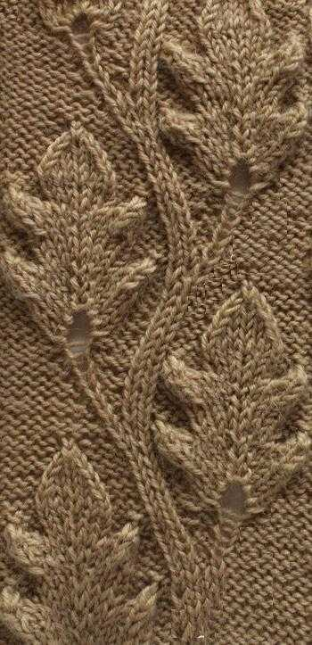 Узор кленовые листья спицами схема фото 183